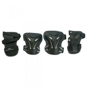 Набор защиты Tech Team Safety line 400, цвет черный (размеры S, M, L)